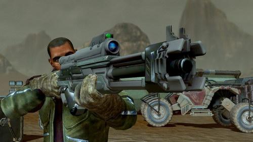 Ένα από τα πολλά τρελά όπλα του παιχνιδιού