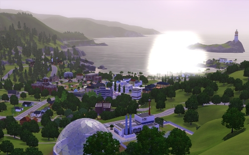 Άποψη της Sunset Valley
