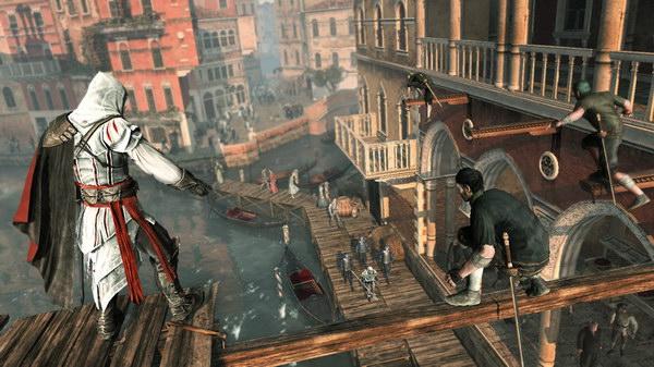 Δίνοντας οδηγίες στους κλέφτες πάνω από τα κανάλια της Βενετίας...