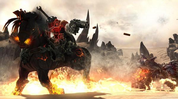 Πυροβολώντας με το υπερπιστόλι καβάλα σε ένα άλογο που βγάζει φωτιές: ΤΡΕΛΟ.