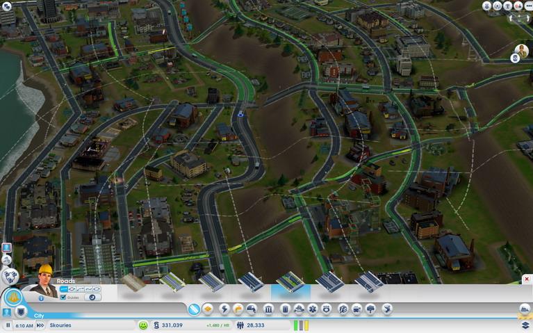 Εκτός από καμπύλους δρόμους, το παιχνίδι έχει και σύστημα πολεοδομίας.