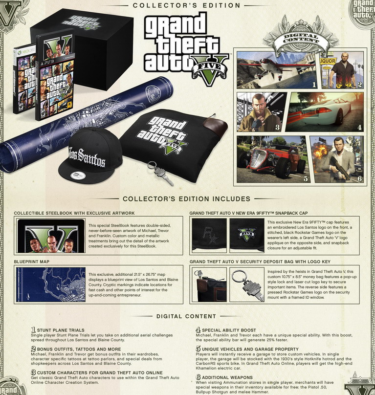 grand theft auto 5 collectors edition
