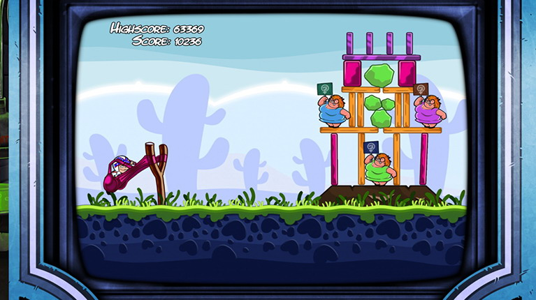 To παιχνίδι τύπου Angry Birds είναι από τις λίγες προσθήκες που έχουν γίνει στον τίτλο.