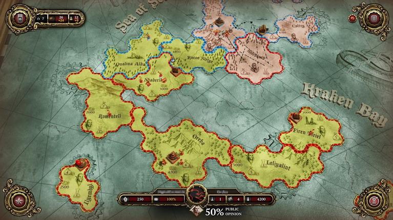 Ο χάρτης τακτικής είναι απλός αλλά εθιστικός.