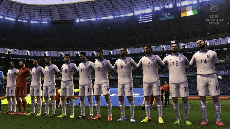 Δείγμα της προχειροδουλειάς στα πρόσωπα των παικτών λιγότερο εμπορικών εθνικών ομάδων, όπως η Ελλάδα.