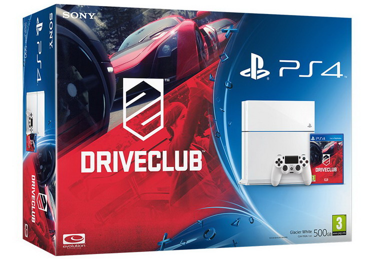 white ps4 driveclub bundle