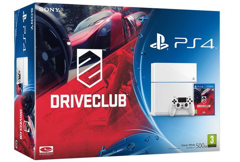 white ps4 driveclub bundle