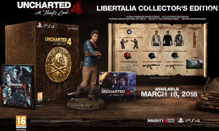 uncharted 4 collectors edition