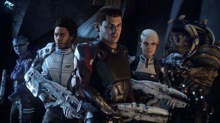 O πρωταγωνιστής Scott Ryder με τους συντρόφους του.
