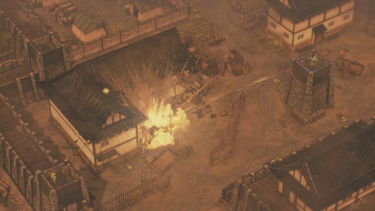 Η πτώση του οχυρού Osaka ως αποτέλεσμα των συντονισμένων ενεργειών την ομάδας.