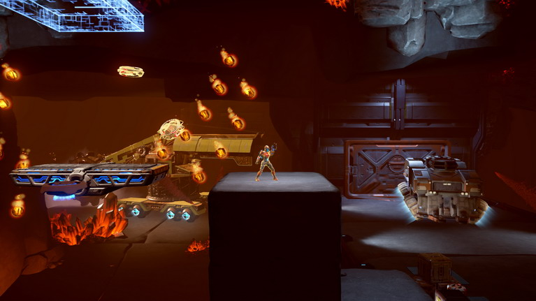 Το παρουσιαστικό της Avalon θυμίζει έντονα τη Samus του Super Metroid.