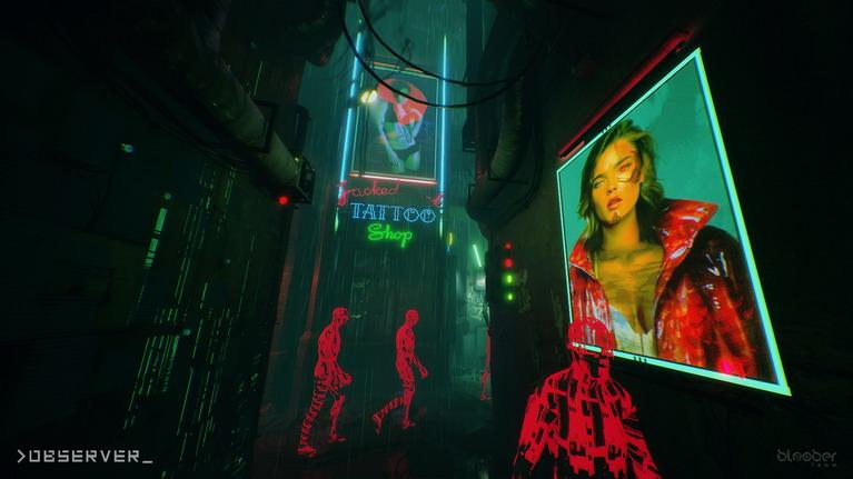 Τα περιβάλλοντα ακτινοβολούν ένα σαγηνευτικό φως από πολύχρωμες λάμπες neon.
