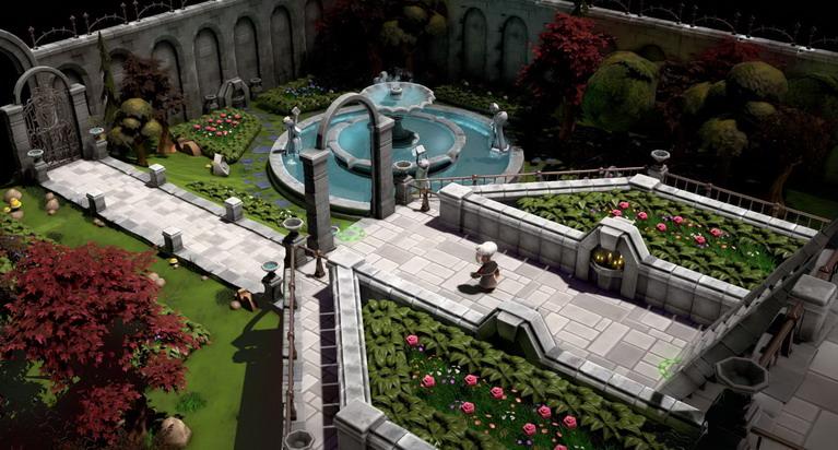 Μια βόλτα στον κήπο που κοσμεί το αρχοντικό.