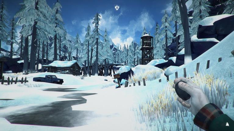 Κυνηγώντας λαγούς στο χιόνι.