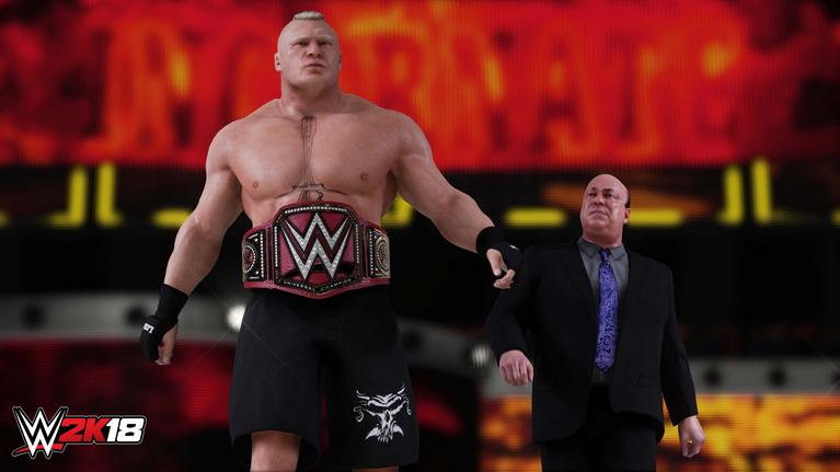 Ladies and gentlemen, the reigning defending undisputed universal champion, Brock Lesnar!