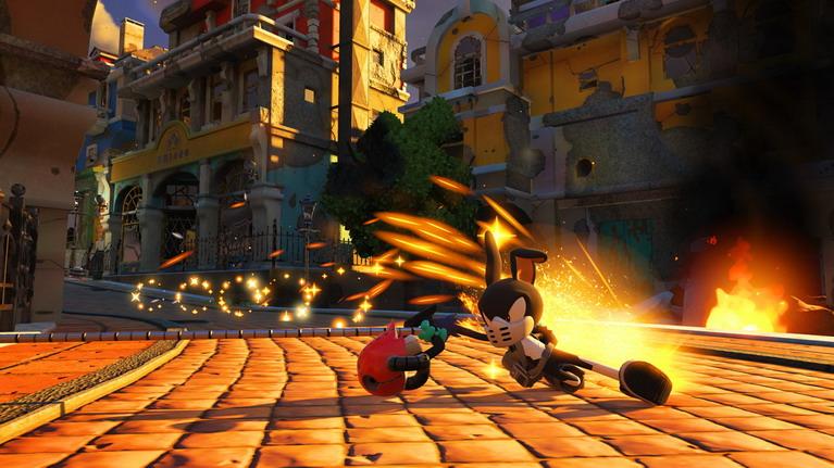 Το τραγικό είναι ότι το avatar έχει αυτόματο drift, ενώ ο Sonic απλά πέφτει στα χαντάκια.