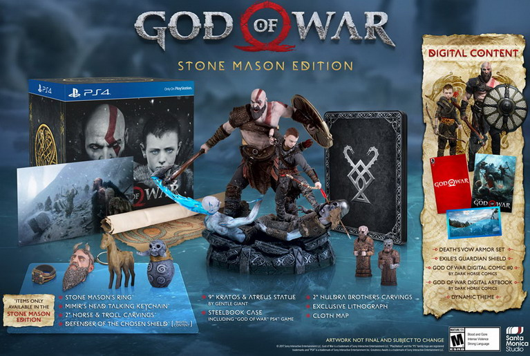 god of war stone mason edition