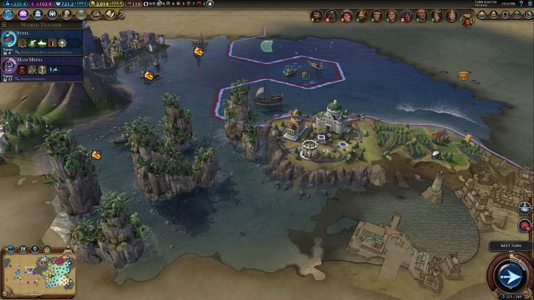 Ο φωτισμός του χάρτη κατα την διάρκεια των σκοτεινών αιώνων είναι πιο μουντό και απαιδιόδοξο.