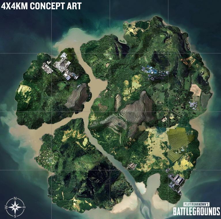 playerunknowns battlegrounds island map