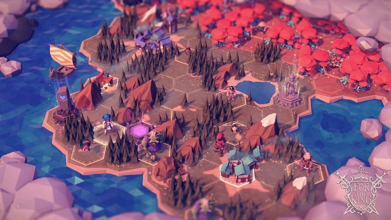 Ο χάρτης χωρίζεται σε εξαγωνικό grid και γύρω υπάρχει fog of war.