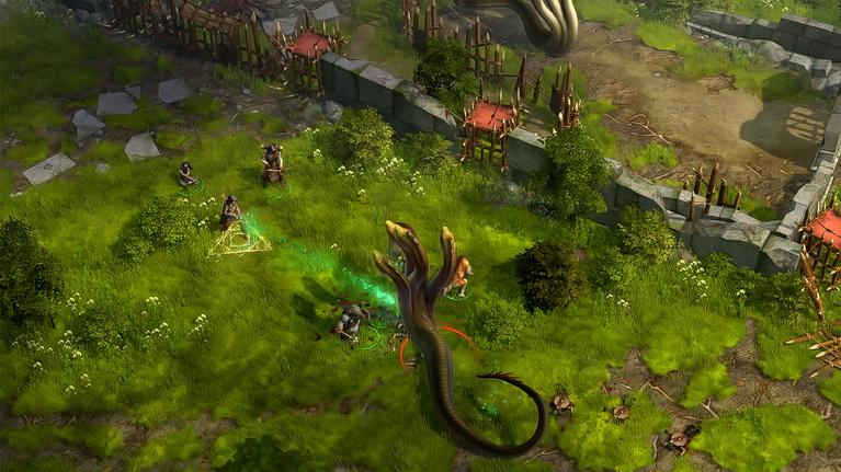 Στην μάχη είναι σημαντικό να υπάρχουν πολλά σώματα μπροστά από το group σας, όπως εδώ το summon monster δεξιά της Ύδρας.