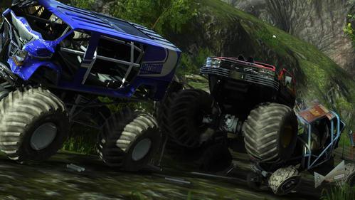 Tα Monster Trucks μπορούν να κάνουν χαλκομανία τα υπόλοιπα οχήματα