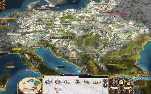 O χάρτης του campaign, αν και δεν έχει και πολλές επαρχίες, είναι πολύ όμορφος