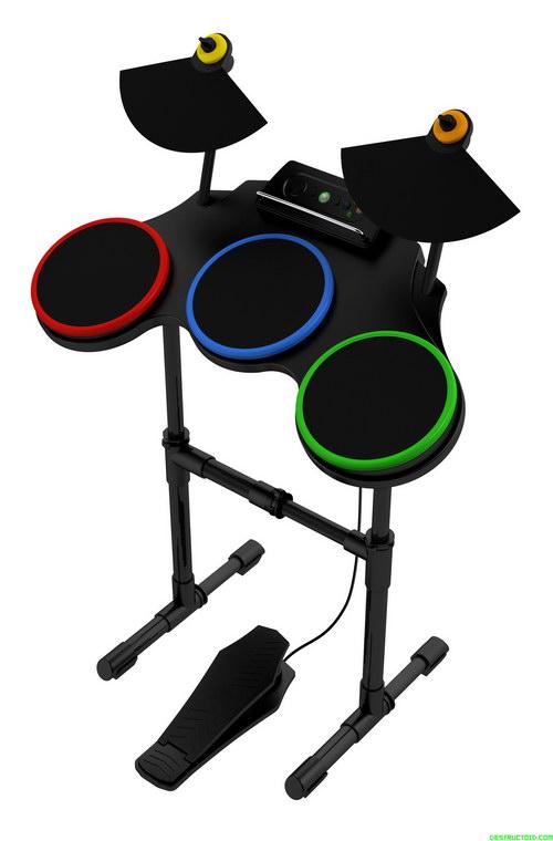 Drums του Guitar Hero World Tour: πολλοί λένε ότι παρότι έχουν περισσότερα κουμπιά έχουν υποδεέστερη εμφάνιση από τα αντίστοιχα της Harmonix