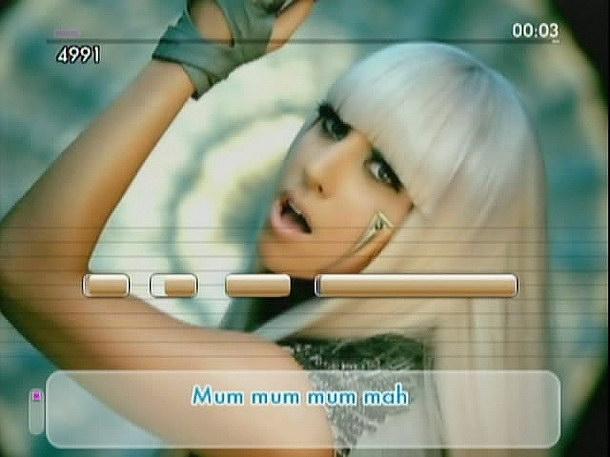 Από τα πιο γνωστά κομμάτια του παιχνιδιού είναι το 'Ποκερόμουτρο' της Λαίδης Γκαγκά.