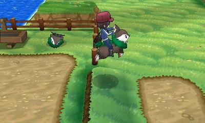 Μπορείτε να καβαλήσετε κάποια Pokemon σε συγκεκριμένες περιοχές.