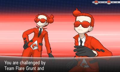 Οι κακοί της υπόθεσης, Team Flare, δεν είναι ιδιαίτερα απειλητικοί.