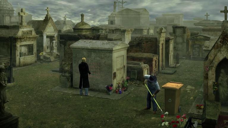 Παίρνοντας καθαρό αέρα στο νεκροταφείο.
