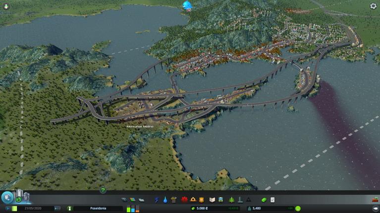 Τεράστιες γέφυρες που συνδέουν τη Σαλαμίνα (που είναι τίγκα στο πετρέλαιο!) με το Πέραμα για τα βυτιοφόρα και τους εργαζόμενους.