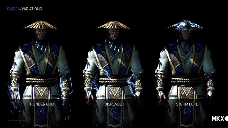 Οι τρεις παραλλαγές του Raiden.