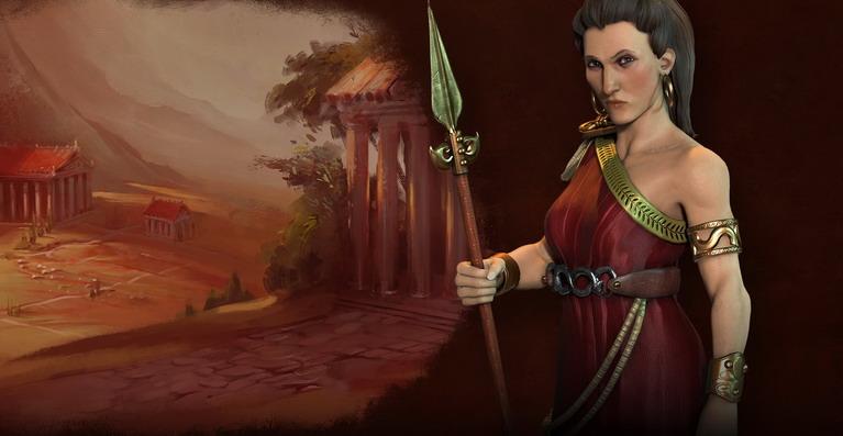 Η Γοργώ, η δεύτερη ηγέτης των Ελλήνων, κερδίζει επιπλέον κουλτούρα για κάθε μονάδα που σκοτώνει.