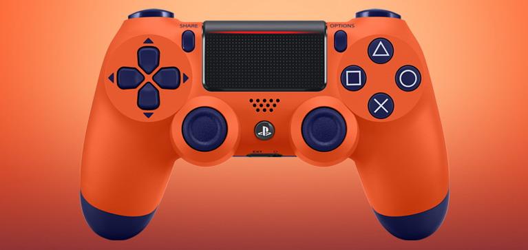 orange dualshock 4