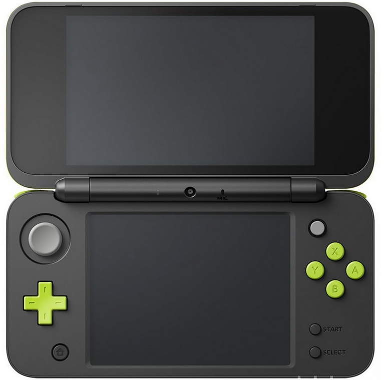 2ds xl black green bundle_1