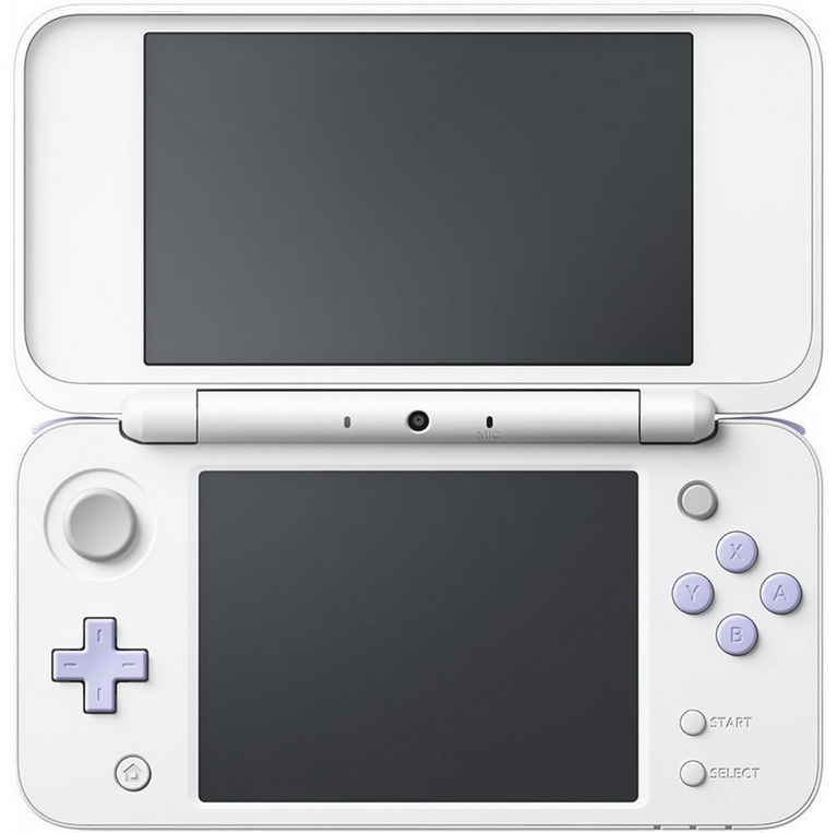 2ds xl white lavender bundle_1
