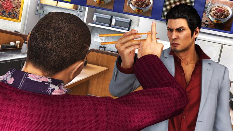 Ακόμα και τα ξυλάκια φαγητού μετατρέπονται σε φονικό όπλο στα χέρια του Kazuma.