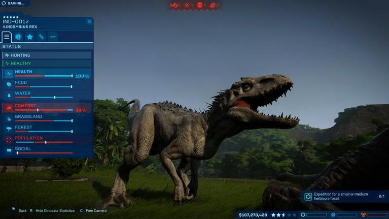 Η Indominus Rex νιώθει καταπιεσμένη.