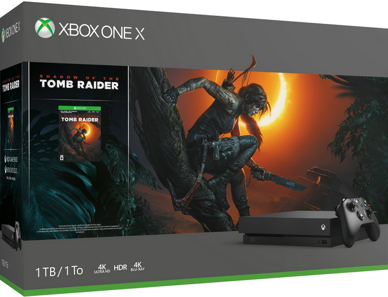 xbox one x shadow tomb raider bundle