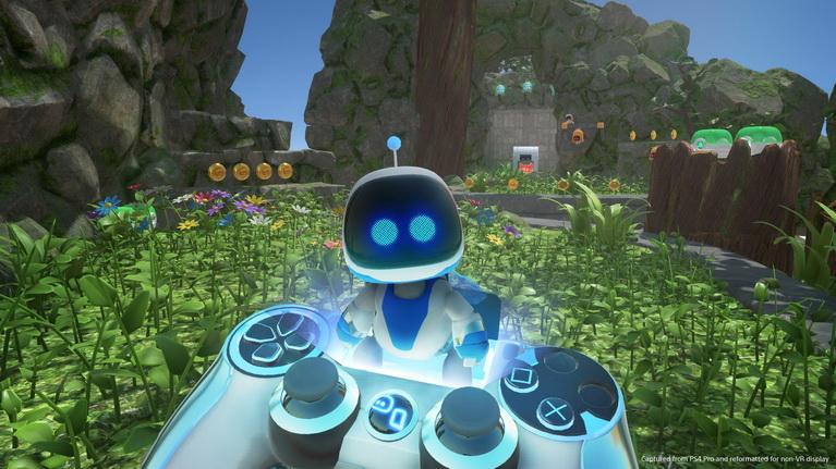 Ο Astro έτοιμος να πεταχτεί από το εικονικό DualShock και να ξεκινήσει την πίστα.